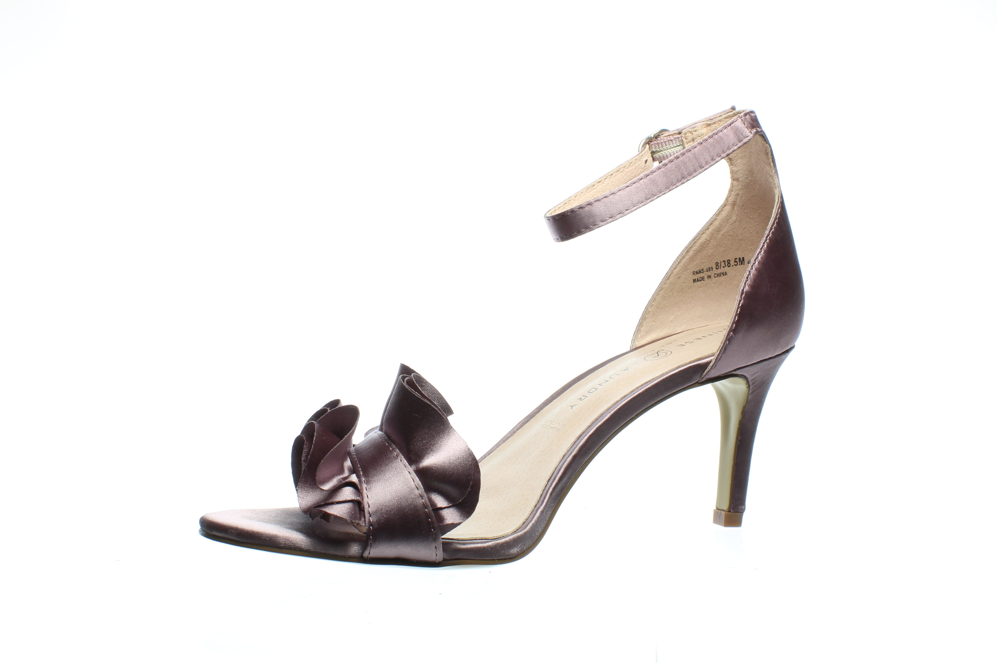 Chinese Laundry Womens Remmy Lavendar Satin Ankle Strap