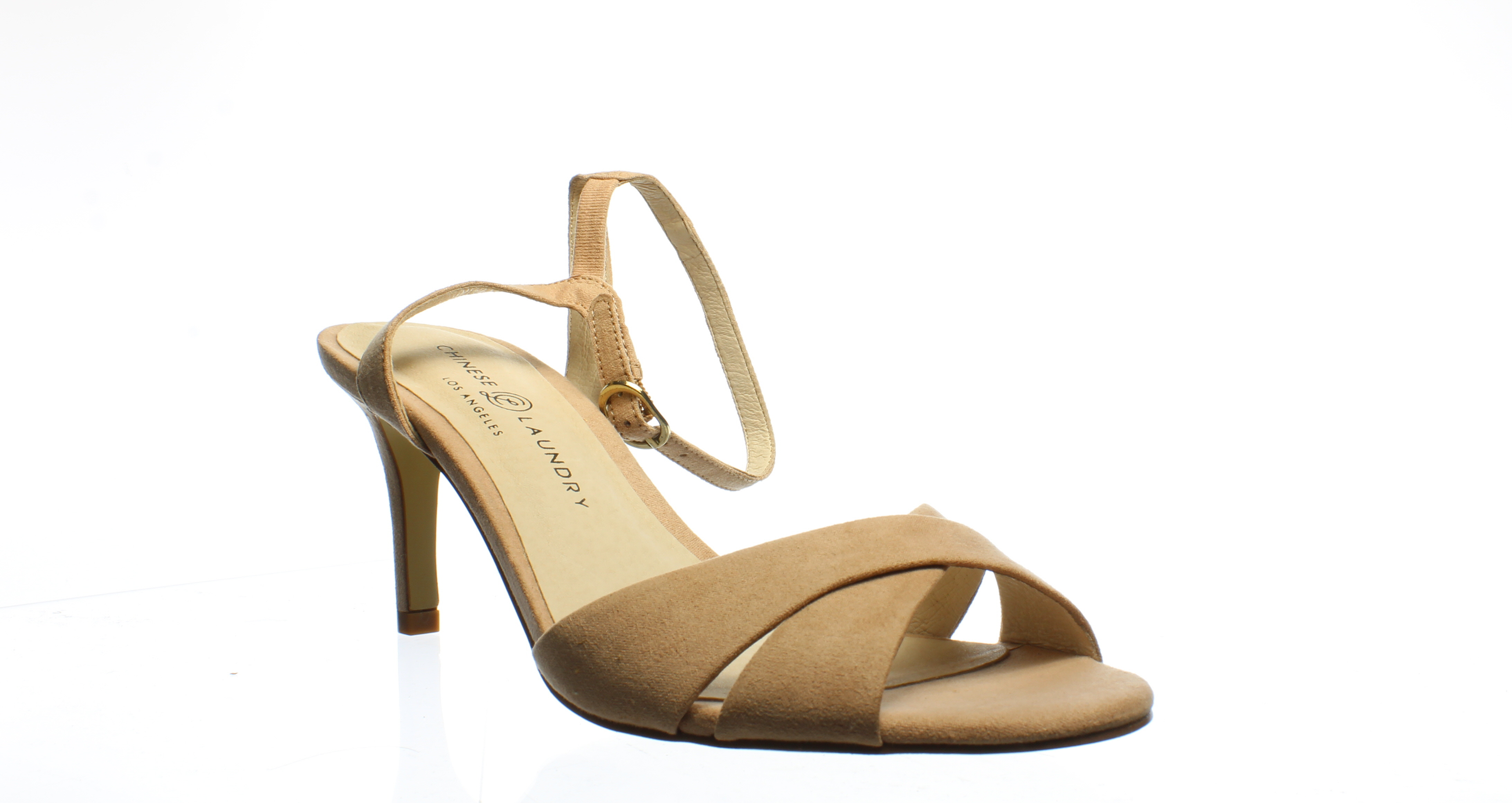 Chinese Laundry Womens Aced Dark Nude Ankle Strap Heels