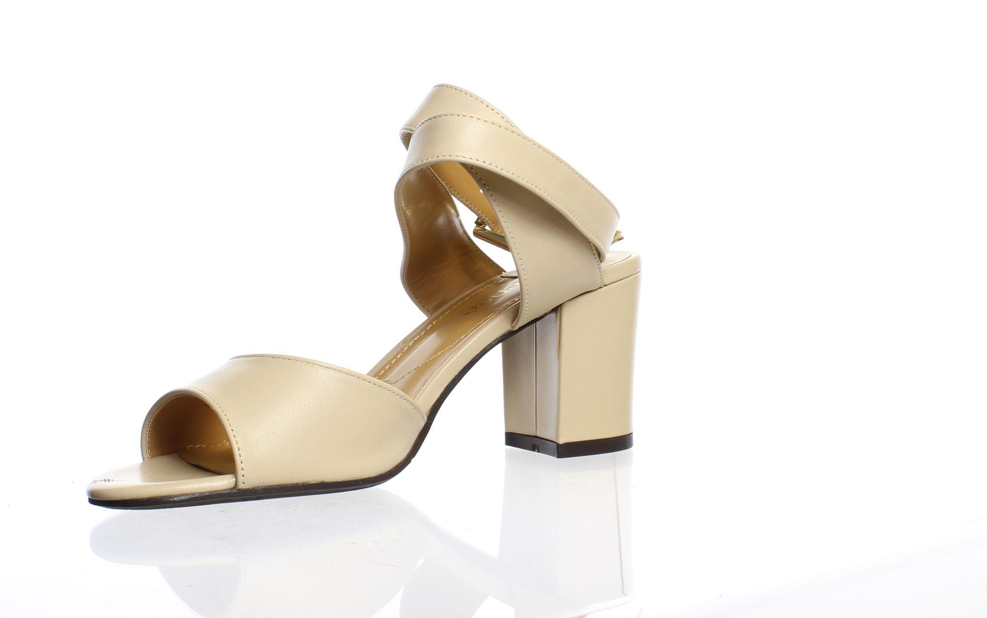 J. Renee Womens Drizella Nude Ankle Strap Heels Size 8