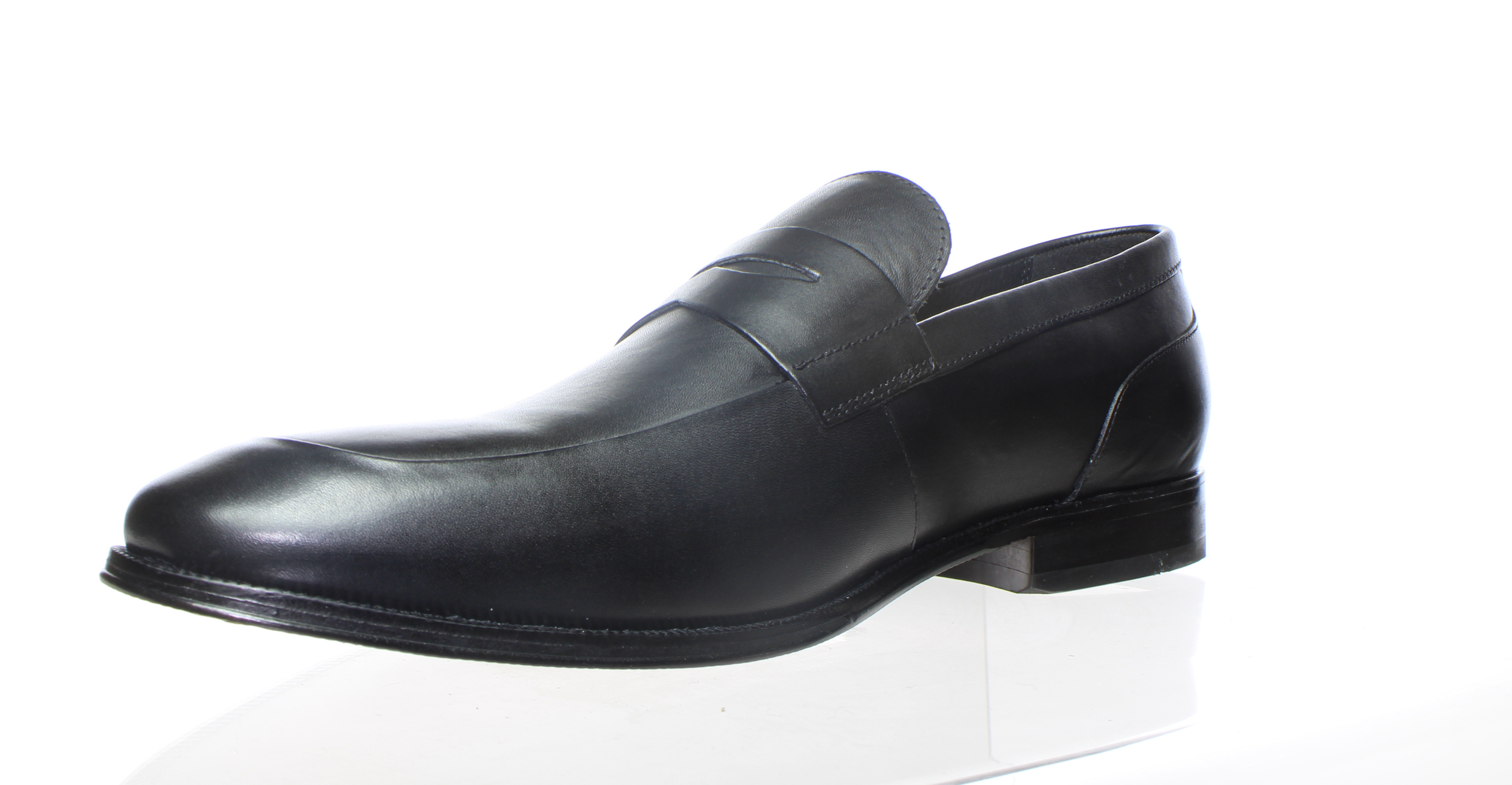 Florsheim Mens Jetson Penny Black Smooth Loafers Size 14 ...