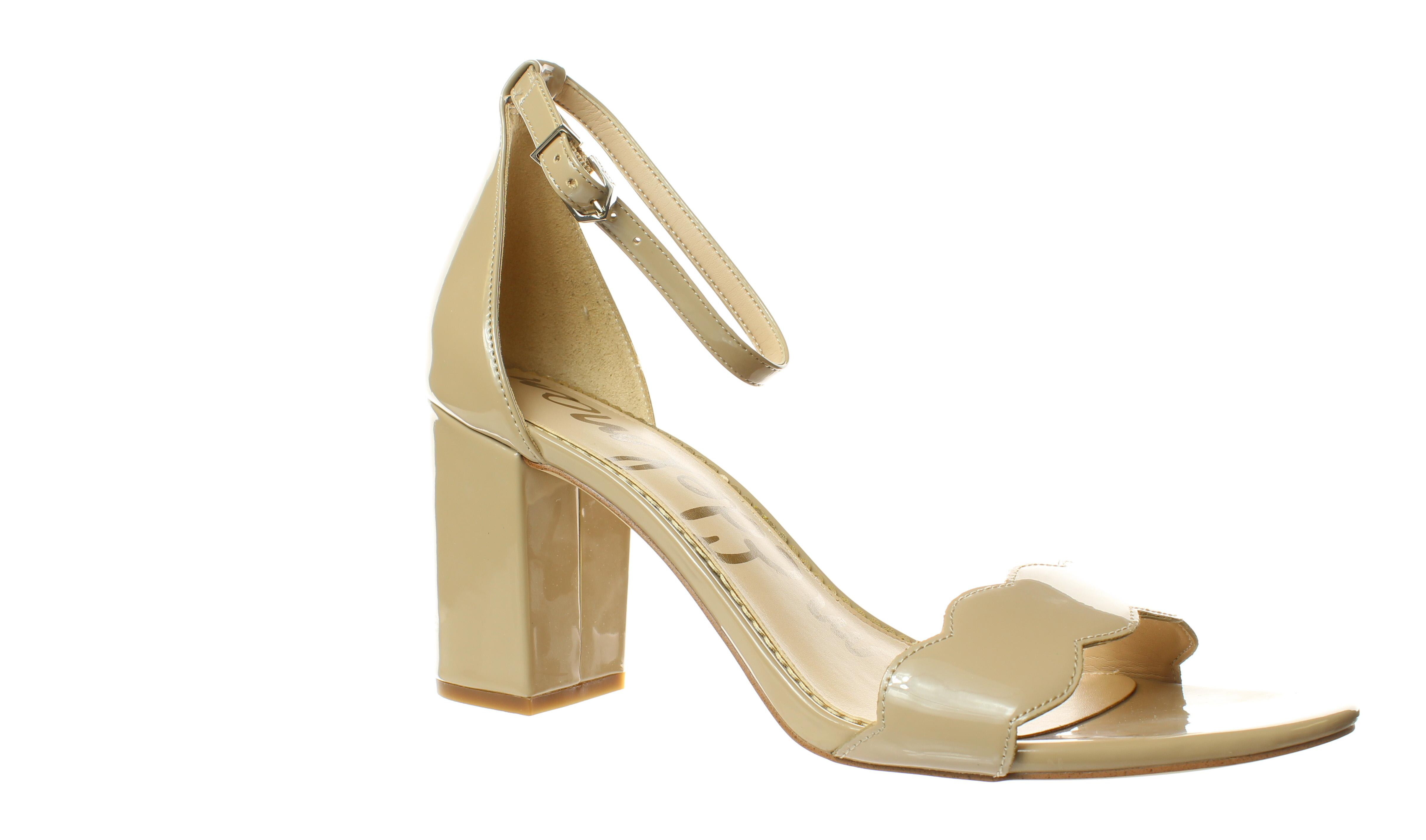 Nude Patent Ankle Strap Stilettos Strappy Sandals High