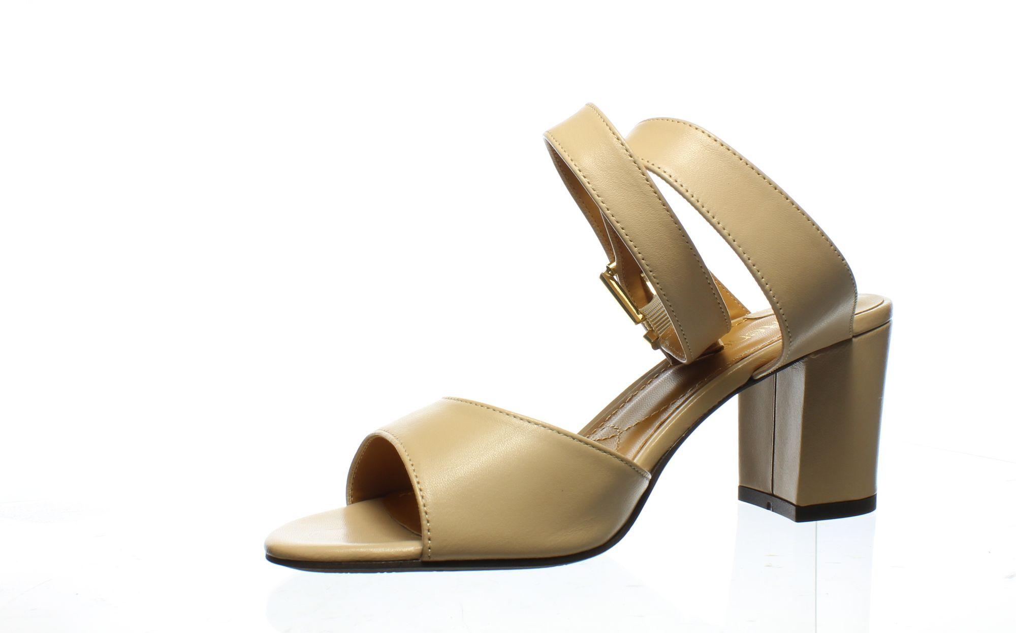 J. Renee Womens Drizella Nude Ankle Strap Heels Size 9