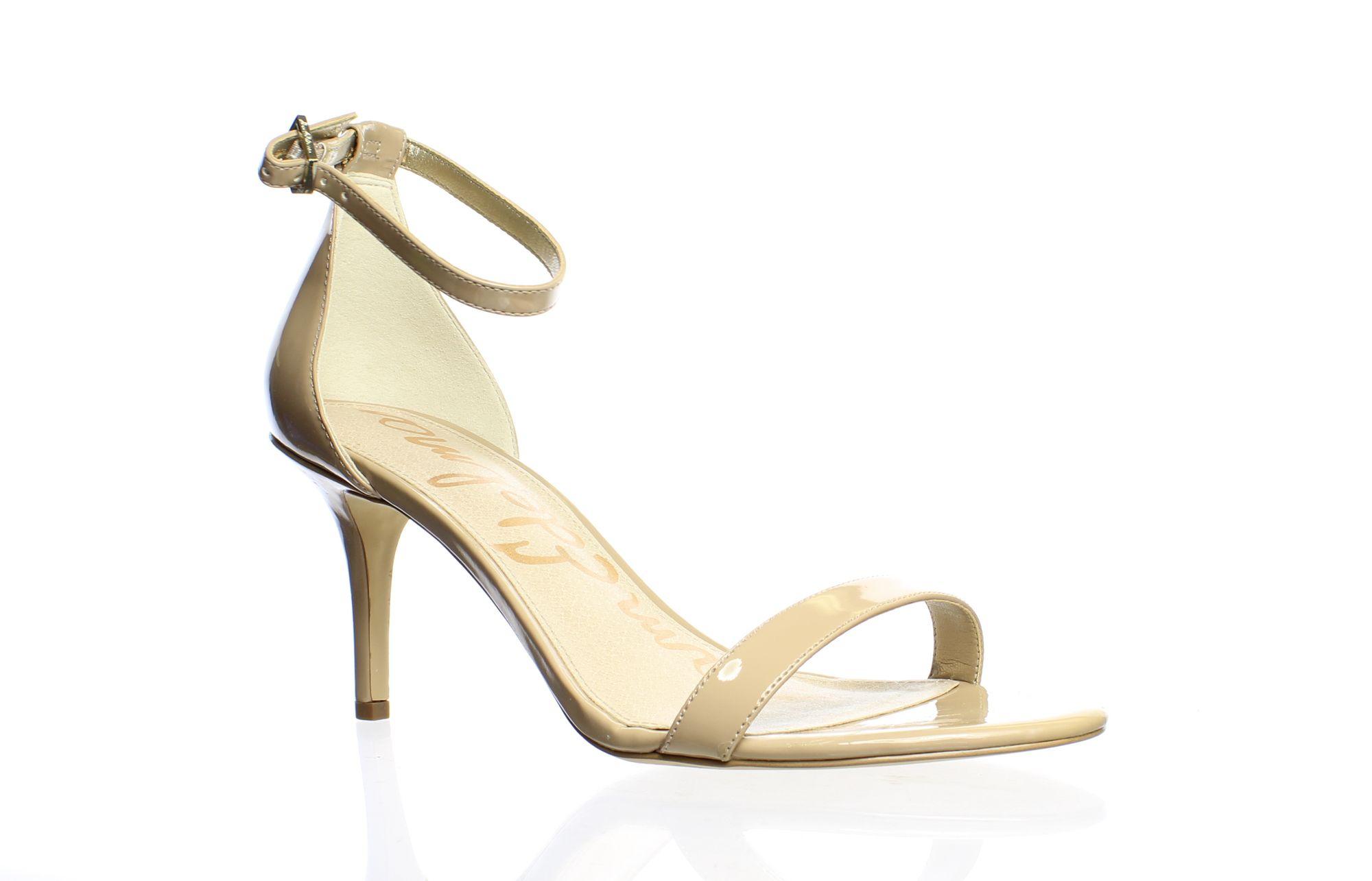 Sam Edelman Womens Patti Classic Nude Patent Ankle Strap