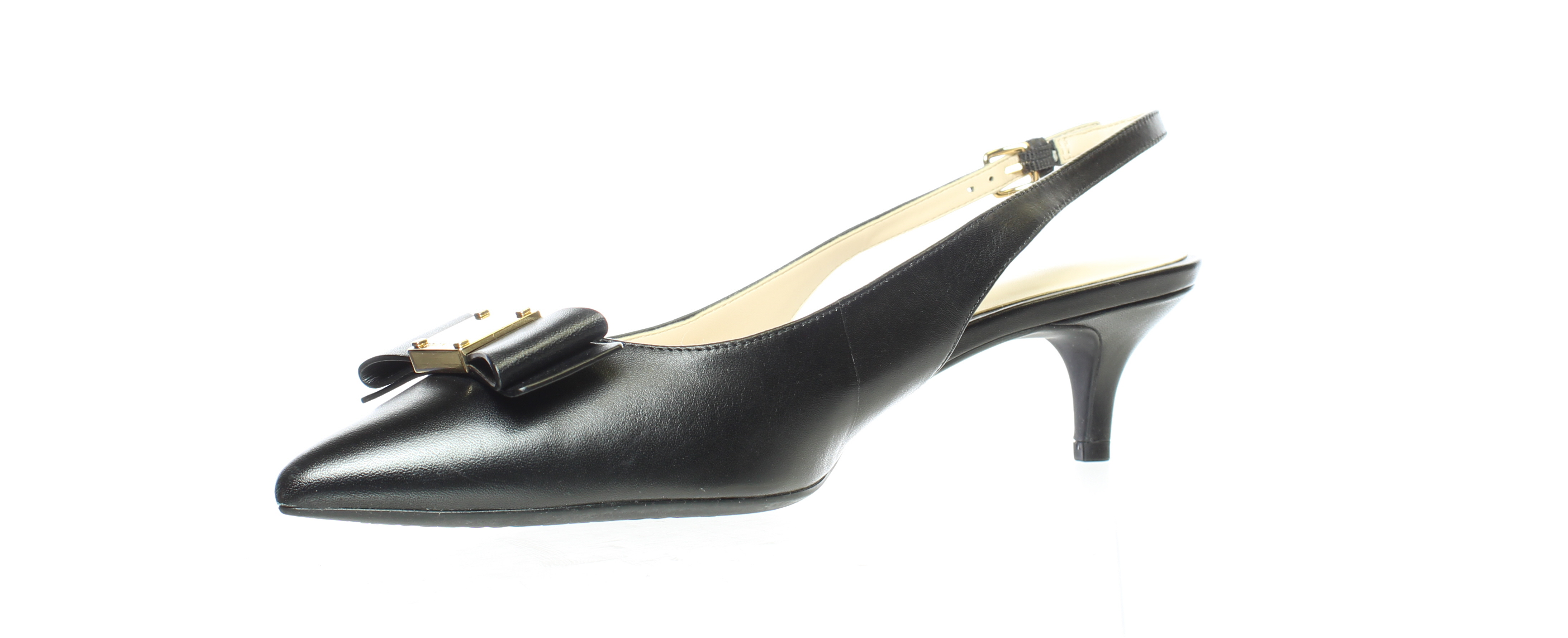 Cole Haan Womens Tali Ch Nude Leather Slingbacks Size 6.5