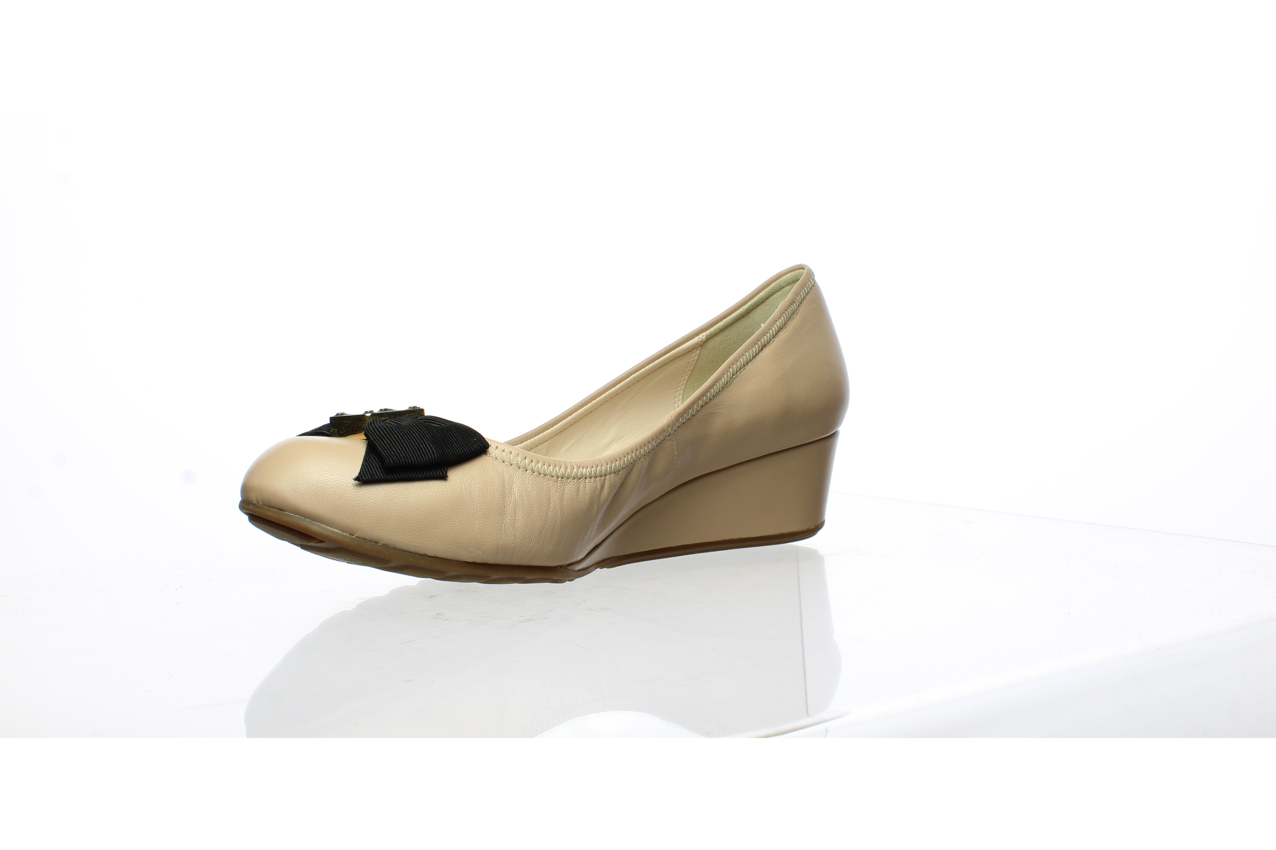 Cole Haan Womens Tali Bow Slingback Ch Nude Leather