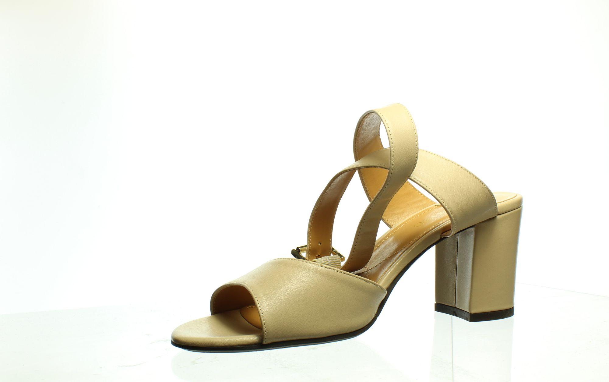J. Renee Womens Drizella Nude Ankle Strap Heels Size 8.5
