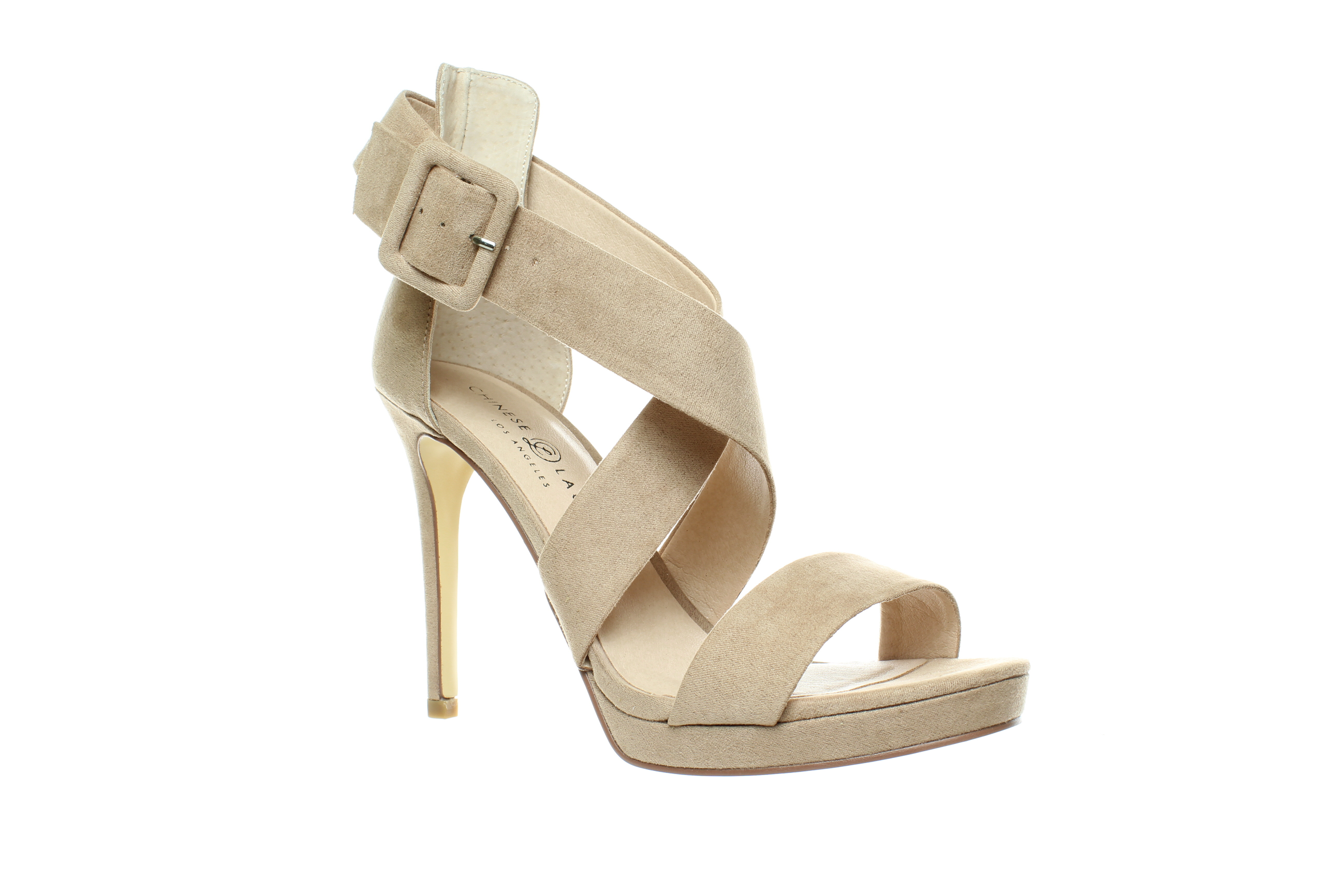 Chinese Laundry Womens Rumor Dark Nude Suede Ankle Strap