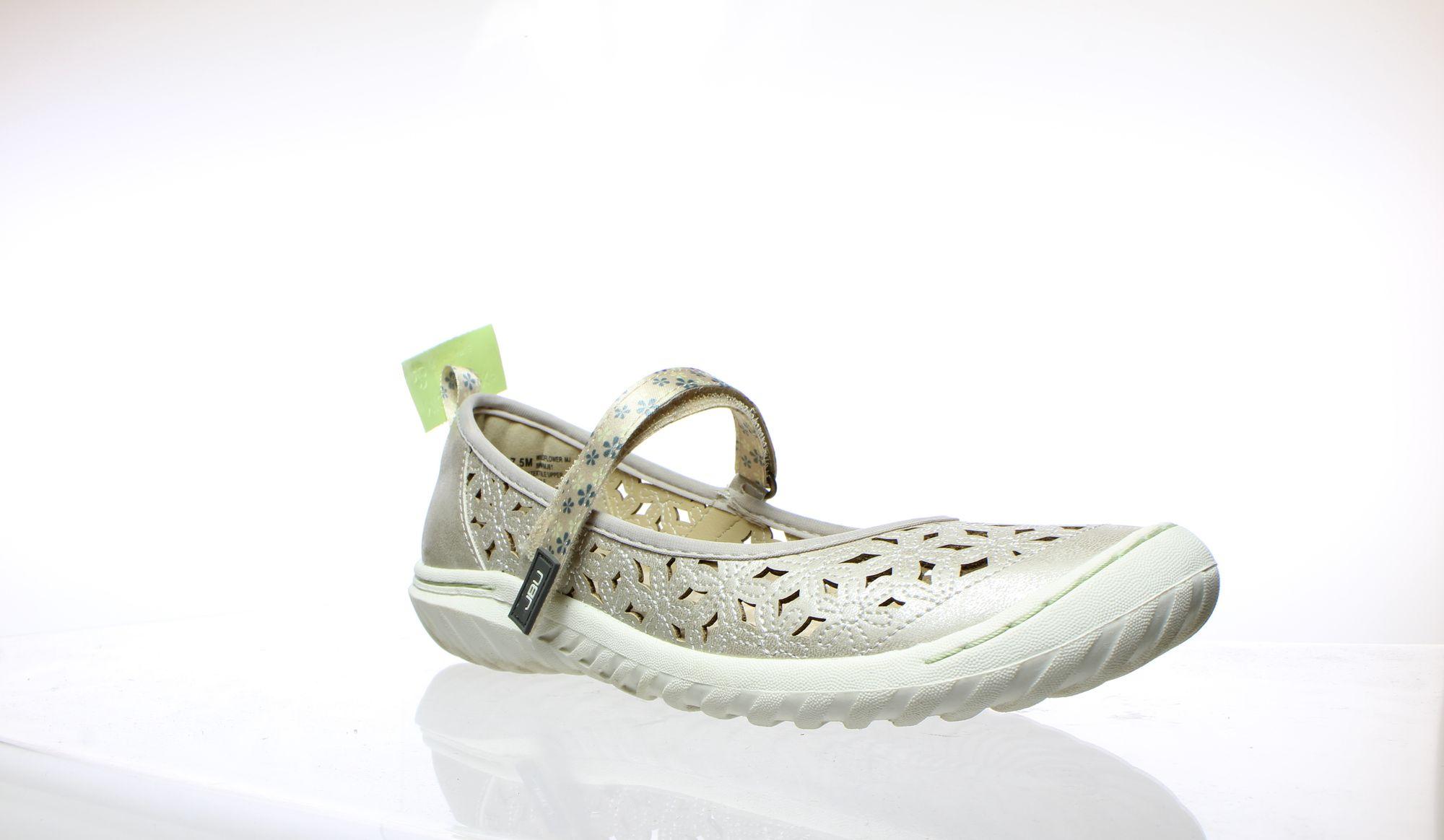 Jambu Womens Wildflower Cream Shimmer Sport Sandals Size 7.5