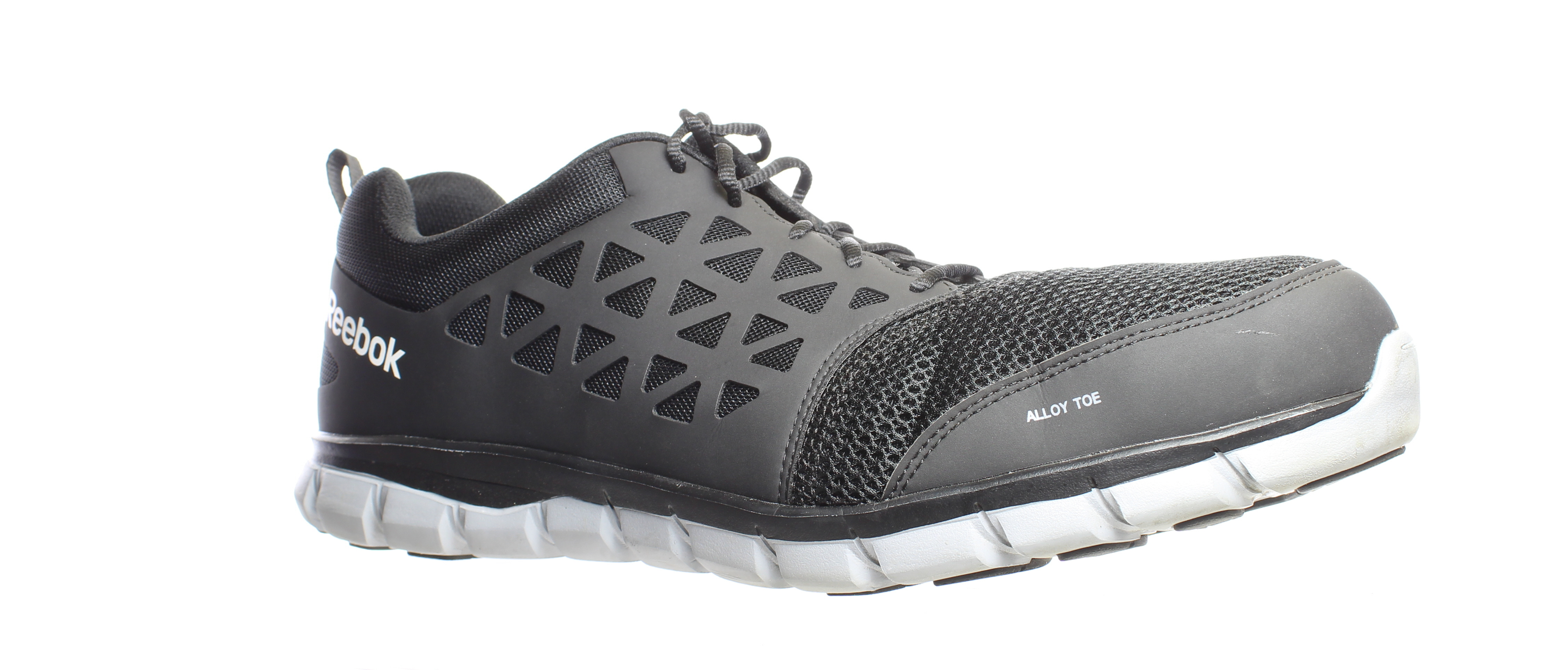 Black Synthetic Safety Shoes Size