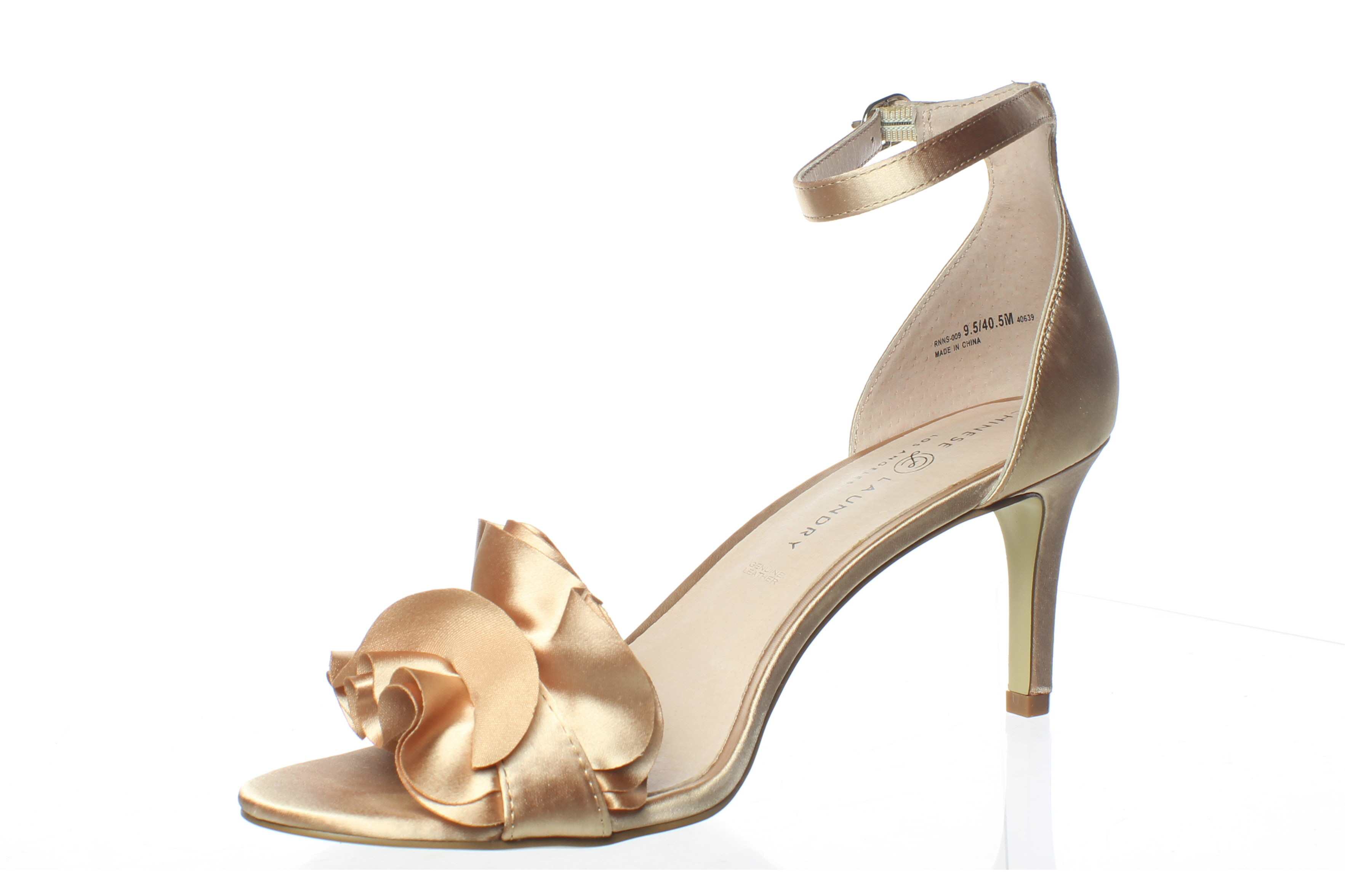 Chinese Laundry Womens Remmy Nude Satin Ankle Strap Heels