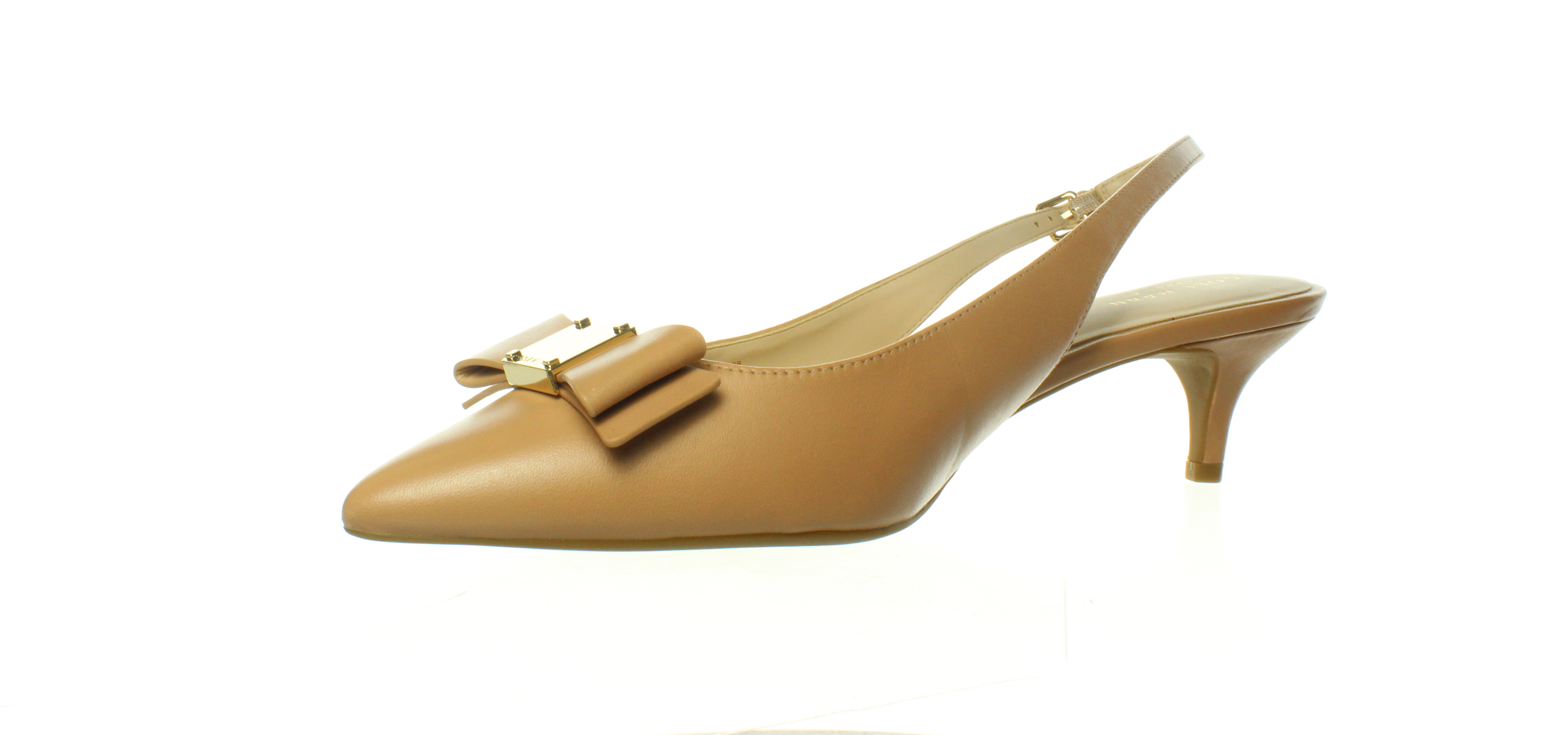 Cole Haan Womens Tali Bow Ch Nude Leather Slingbacks Size