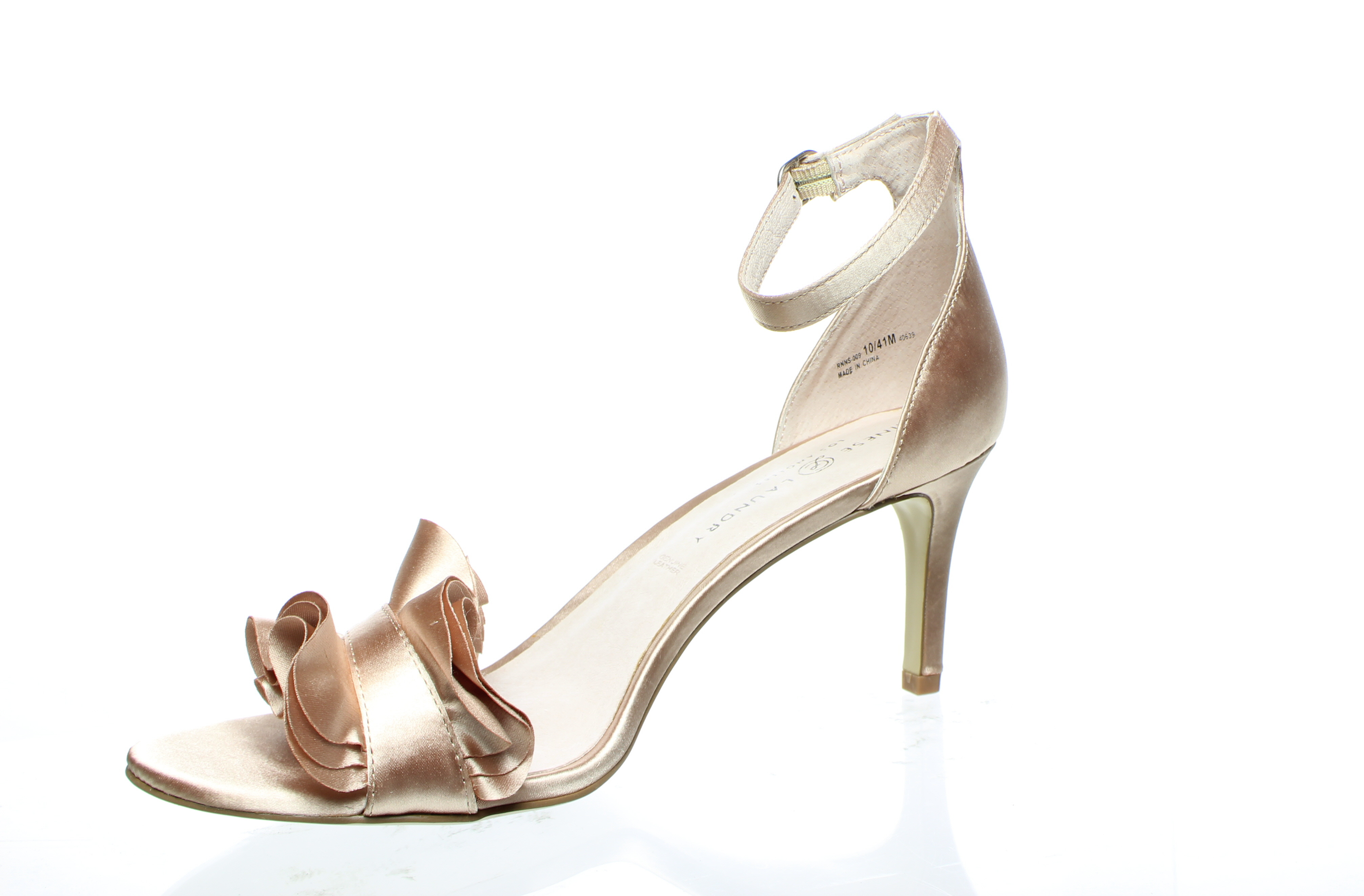 Chinese Laundry Womens Leather Remmy Satin Nude Sandals
