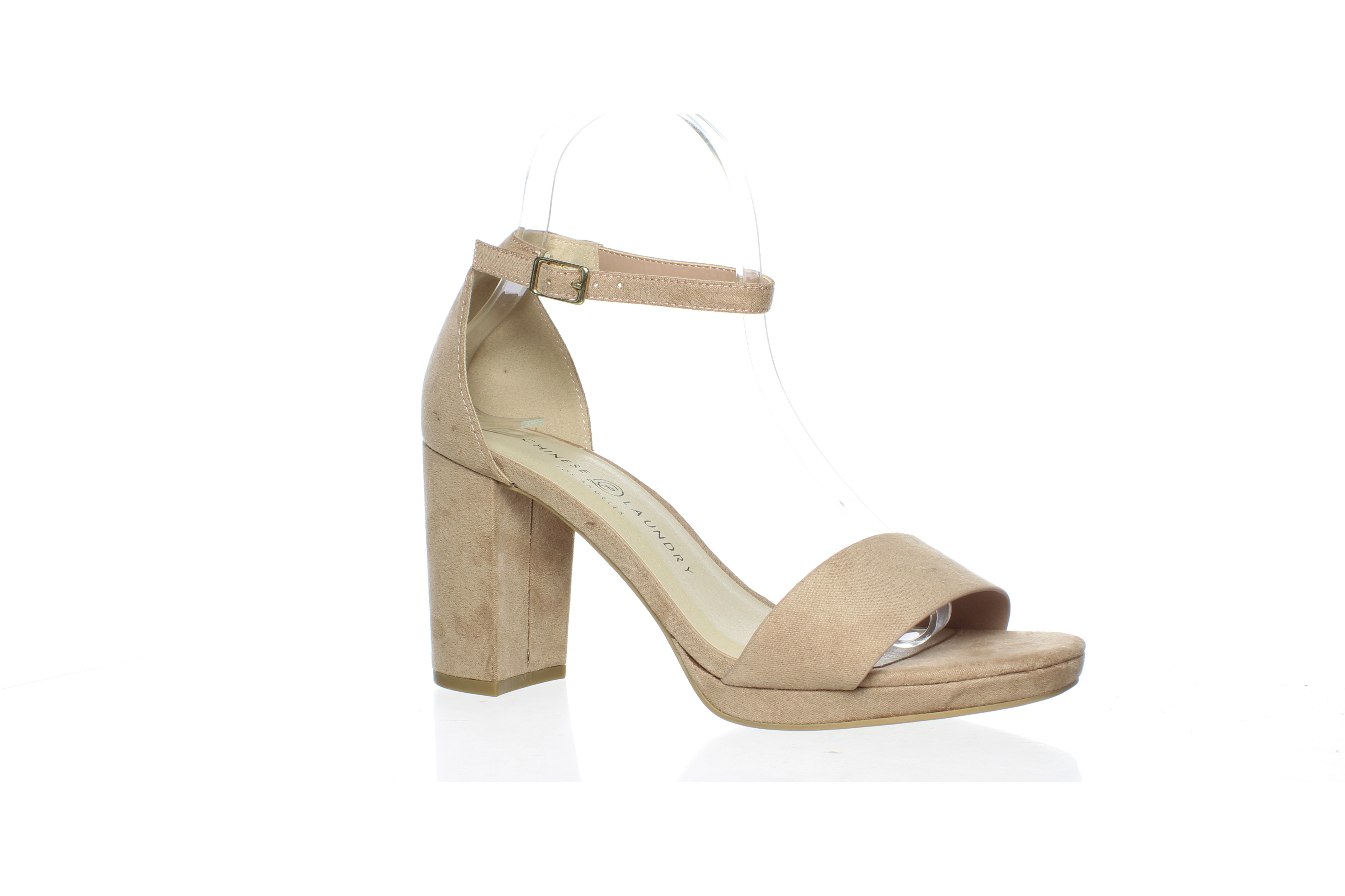 Chinese Laundry Womens Teri Dark Nude Ankle Strap Heels