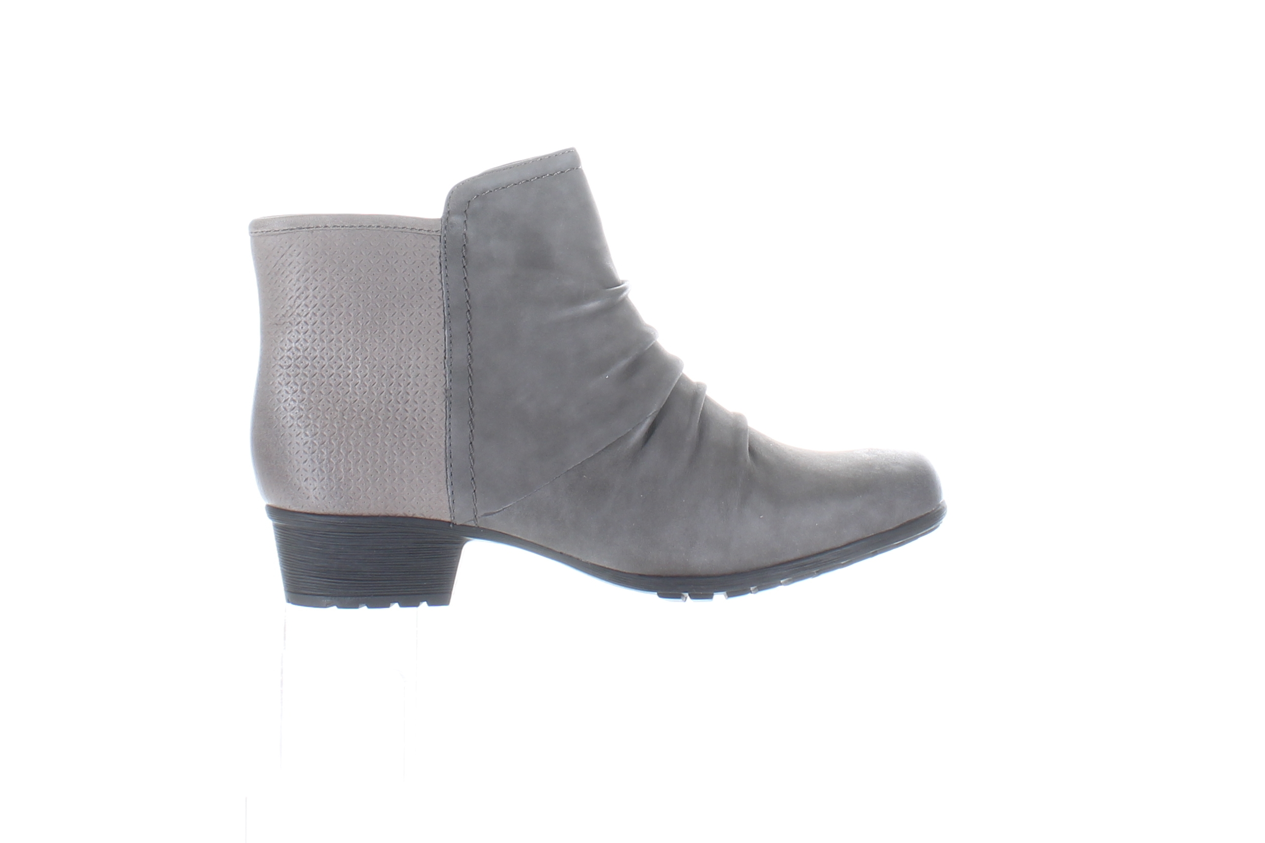 Cobb Hill Womens Gratasha Gray Ankle Boots Size 6 (Wide) (1717561)