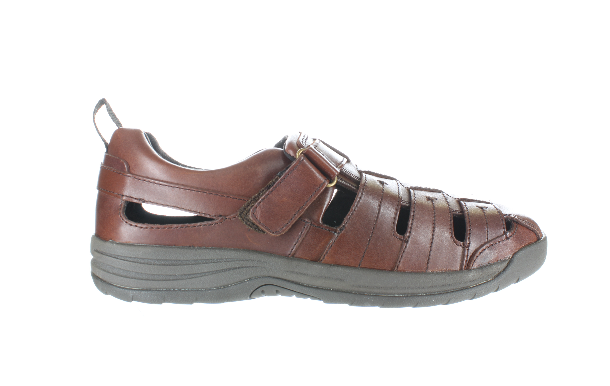 Drew Shoe Mens Dublin Brandy Leather Fisherman Sandals Size 15 (Wide) (1801426)