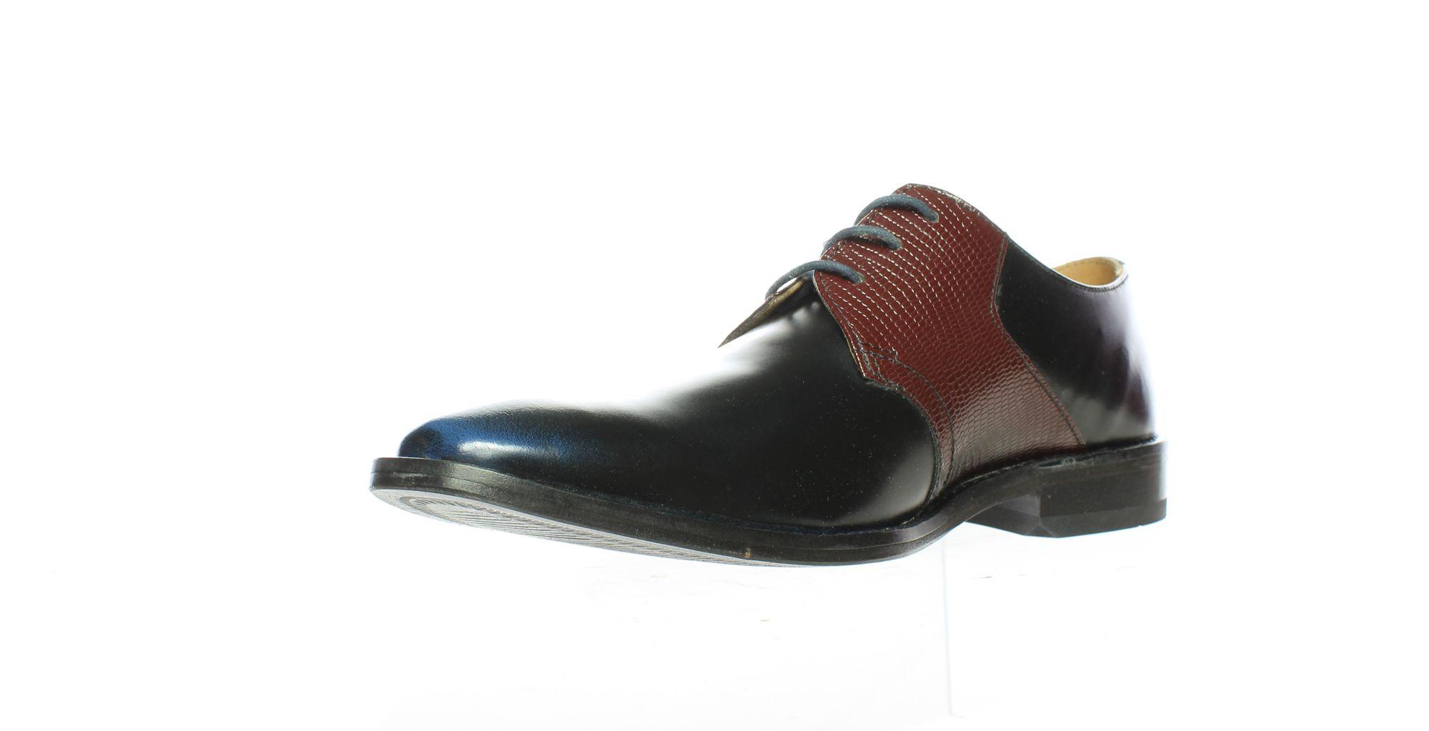 789156 Giorgio Brutini Mens Gotham Bordo//Navy Oxford Dress Shoe Size 8