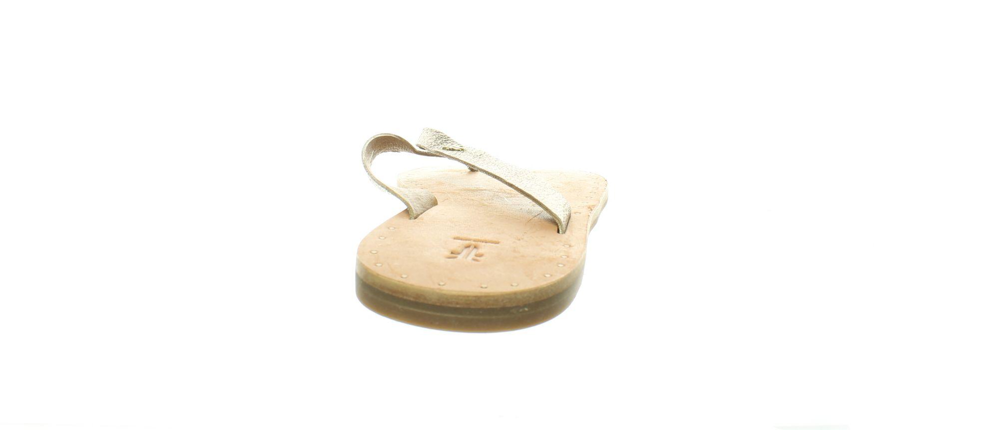 Frye Womens Ally Logo Flip Flop Bronze Sandals Size 8