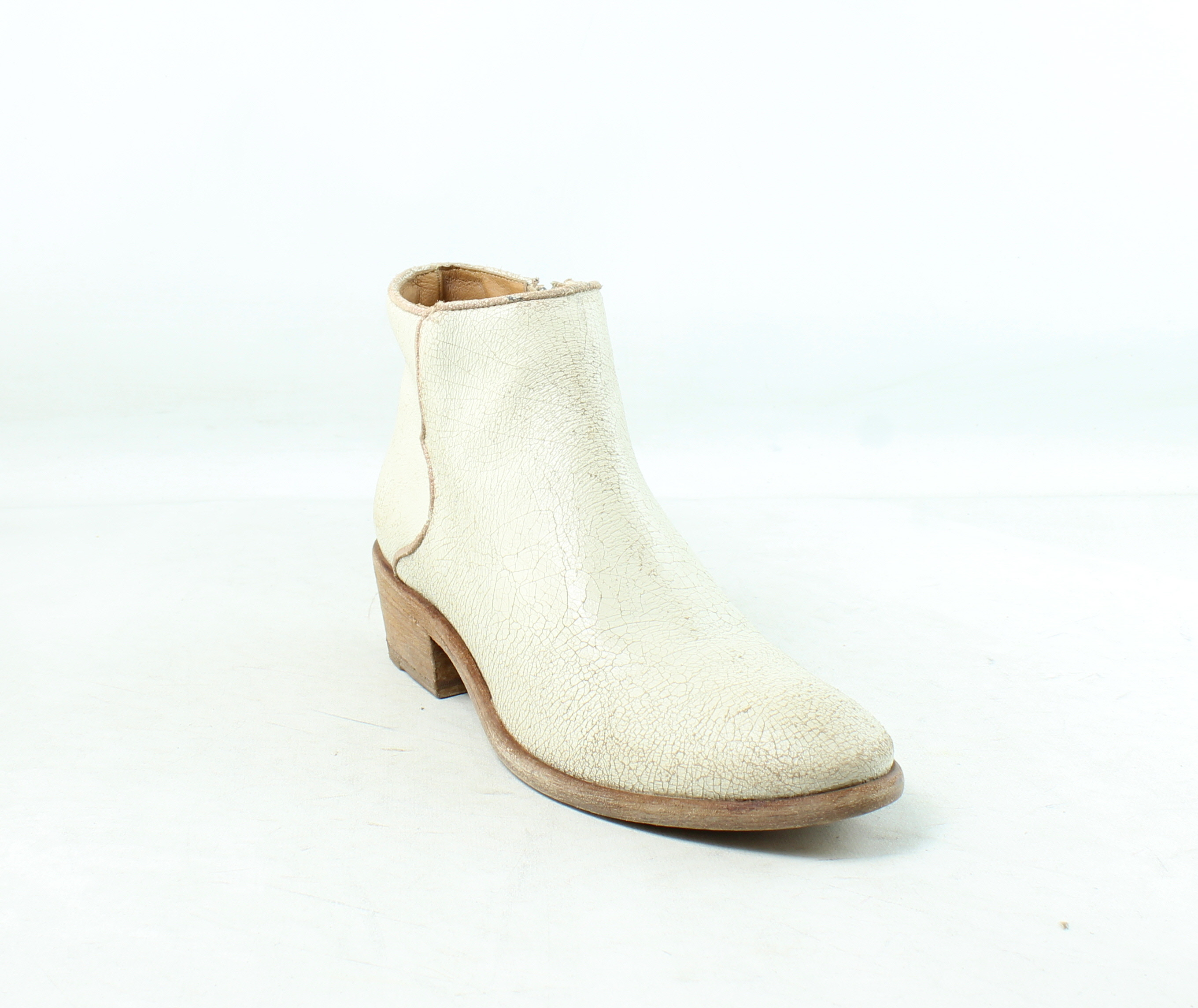 Frye Womens Carson Piping Off White Ankle Boots Size 7.5 ...