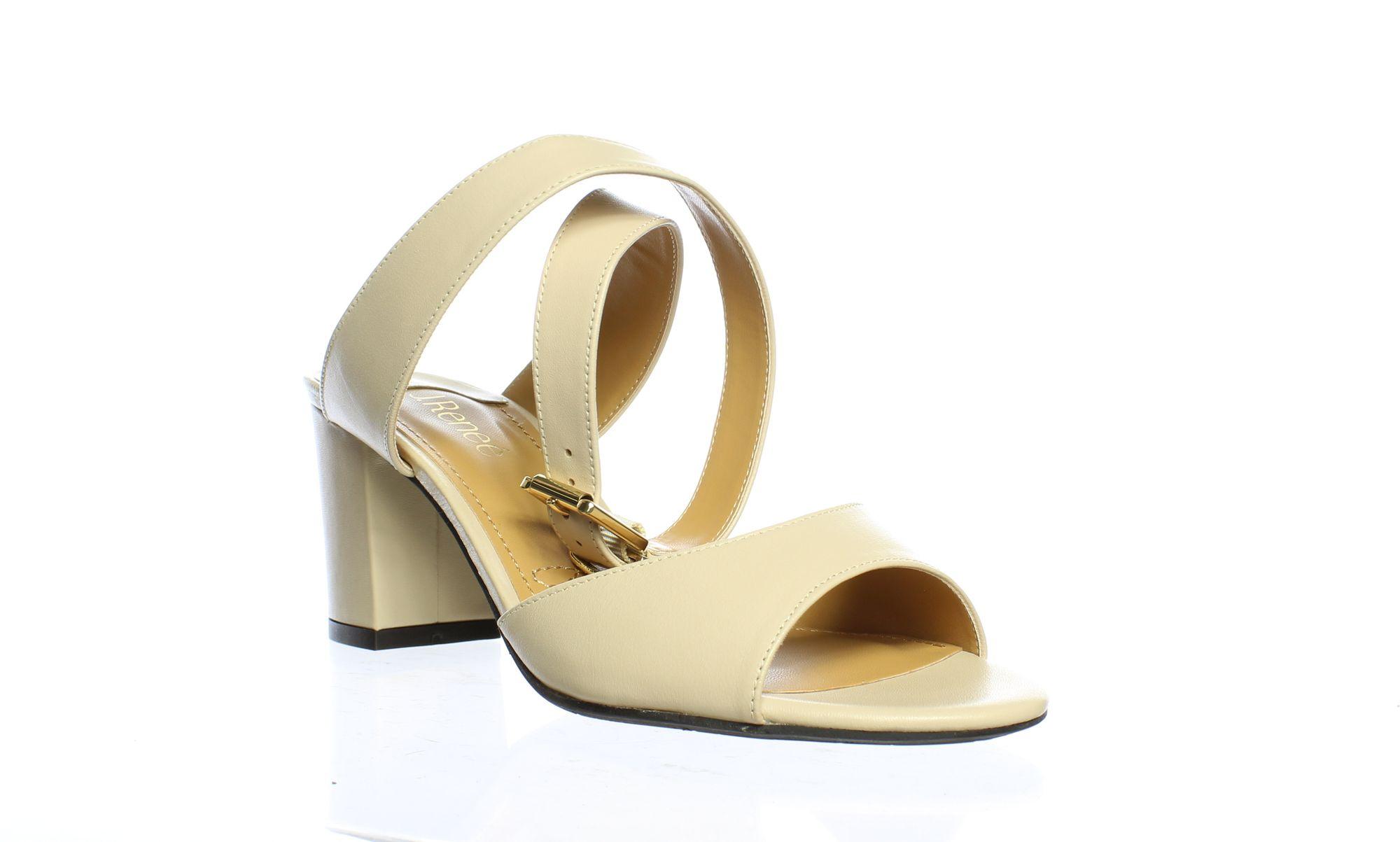 J. Renee Womens Drizella Nude Ankle Strap Heels Size 9.5