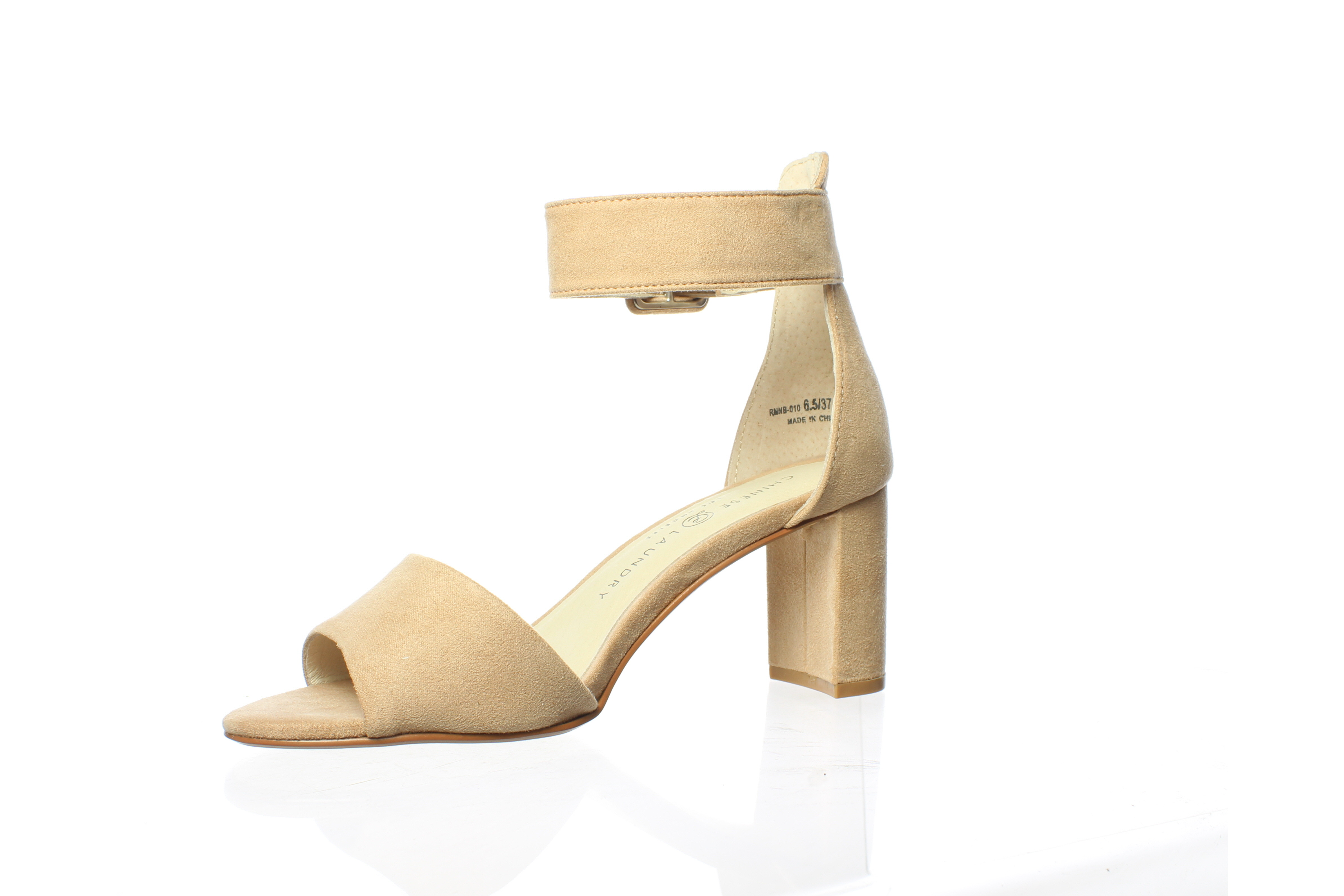 Chinese Laundry Womens Foxie Micro Dark Nude Suede Ankle