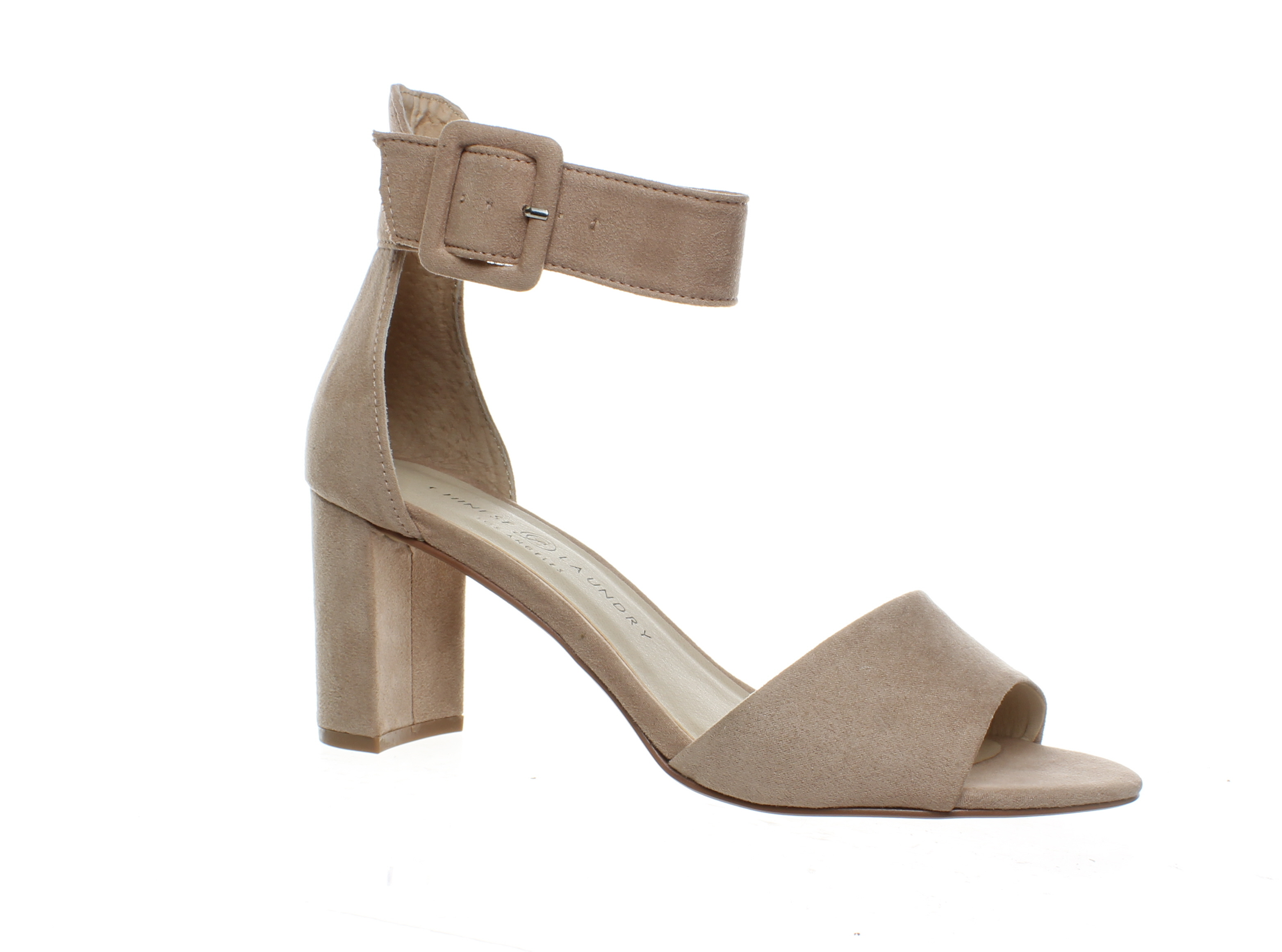 Chinese Laundry Womens Rosetta Dark Nude Suede Ankle Strap