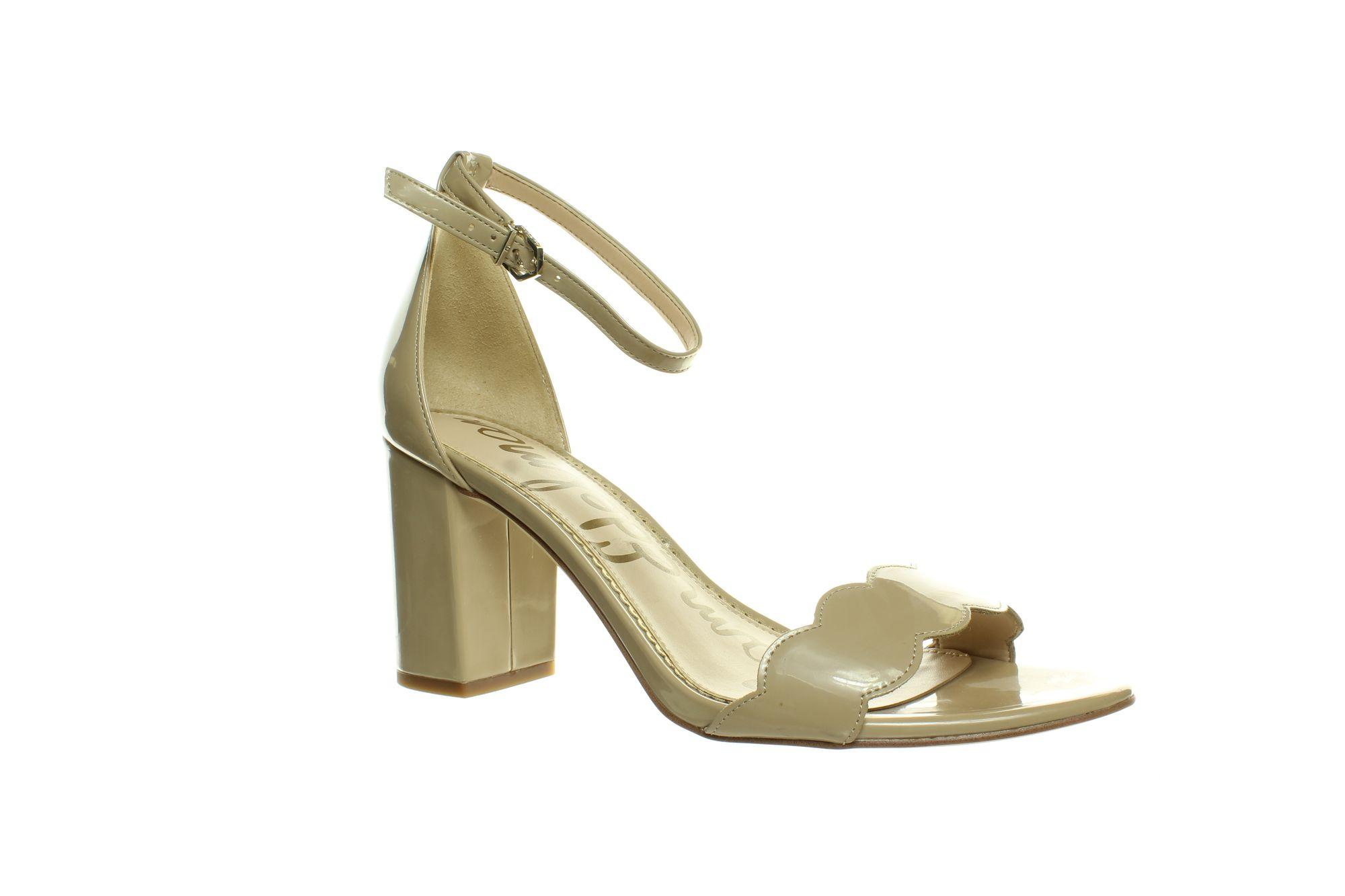 Sam Edelman Womens Ariella Beige Nude Patent Ankle Strap