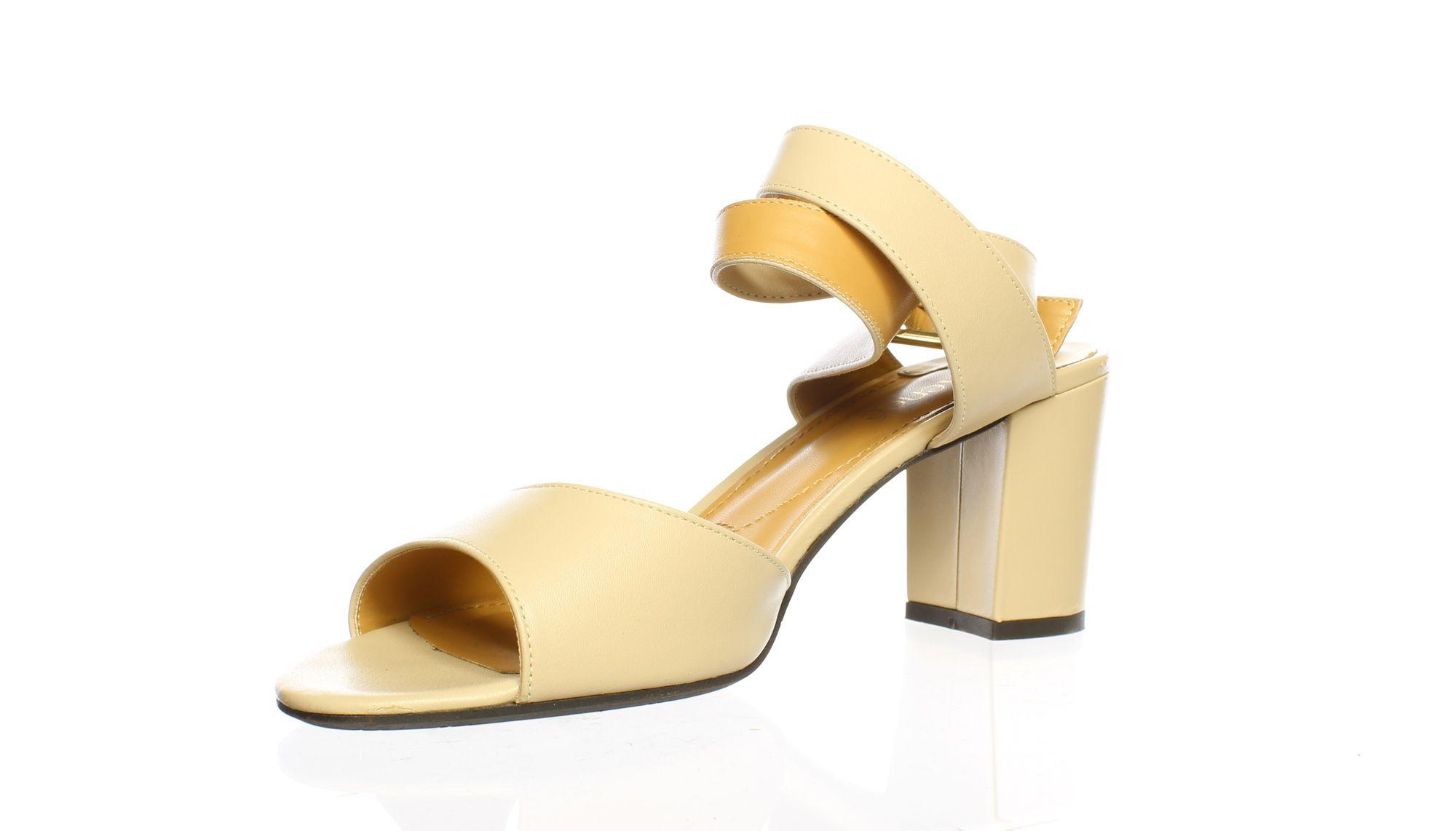 J. Renee Womens Drizella Nude Ankle Strap Heels Size 10